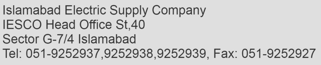 IESCO Headquater Address