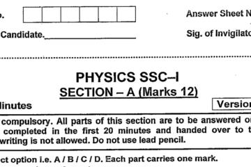 Physics MCQs for Class 9