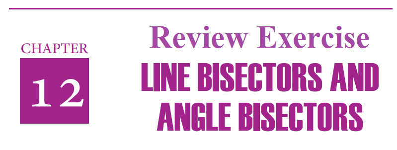 line bisectors angle bisectors review exercise 12